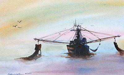 Shrimp Trawler Art Print