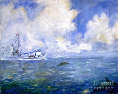 Shrimpboats Wall Art - Painting - Shrimpboat Bill by Doris Blessington