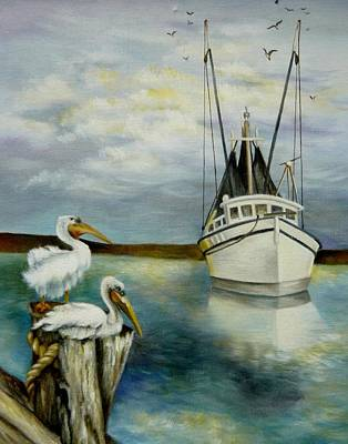 Shrimper Painting - Shrimper by Holly Way