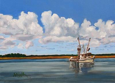 Shrimper Art Print by Molly Wright