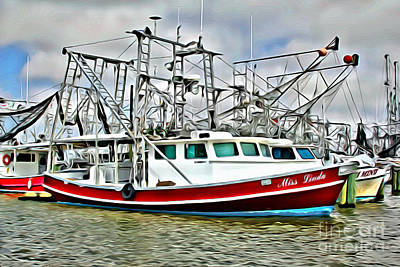Louisiana Photograph - Shrimpers 2 by Carey Chen