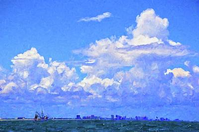 Photograph - Shrimpers Clouds by Alice Gipson