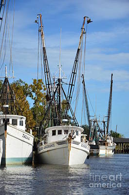 Photograph - Shrimpers In For The Day -3 by Bob Sample
