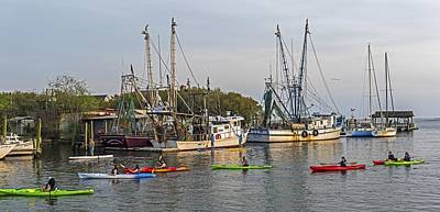 Photograph - Shrimping And Canoeing In Charleston Sc by Willie Harper
