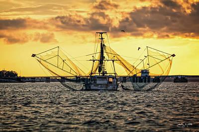 Photograph - Shrimping At Harkers Island by Jody Merritt