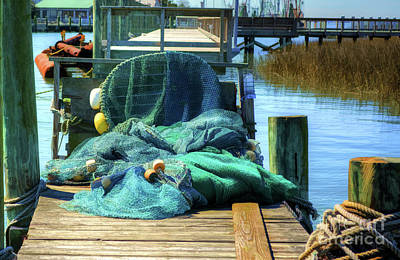 Photograph - Shrimping Nets by Kathy Baccari