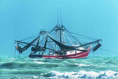 Photograph - Shrimping On A Windy Day In Key West by Bob Slitzan