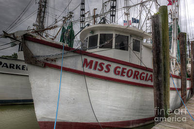 Photograph - Shrimping Season Aboard Miss Georgia by Dale Powell