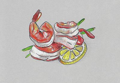 Painting - Shrimps by Masha Batkova