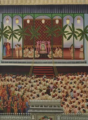 Shri Krishna Painting - Shrinathji Sabha by Durshit Bhaskar