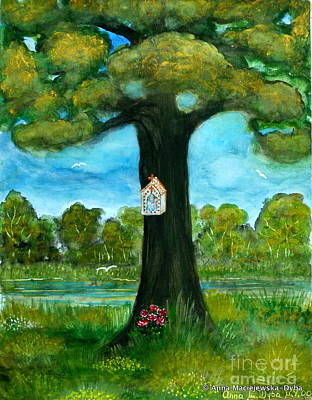 Folkartanna Painting - Shrine At The Roadside by Anna Folkartanna Maciejewska-Dyba