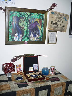 Minnesota Twins Mixed Media - shrine  number one Twins fan by Todd Peterson