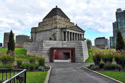 Photograph - Shrine Of Remembrance In Melbourne by Kirsten Giving