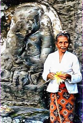 Photograph - Shrine To Ganesh On Bali by Dorothy Berry-Lound