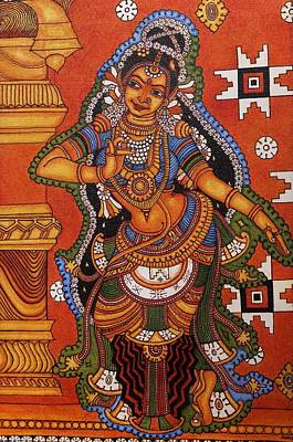 Complicated Painting - Shringara Narthaki  Dancing Girl by Anu Edasseri