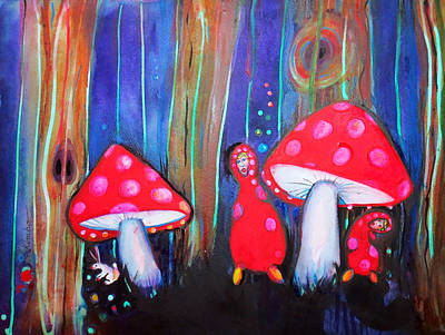 Painting - Shroom Folk by Kimbo Jackson
