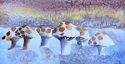 Painting - Shrooms by Mindy Newman