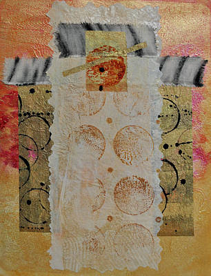 Painting - Shroud 1 Collage by Kate Word