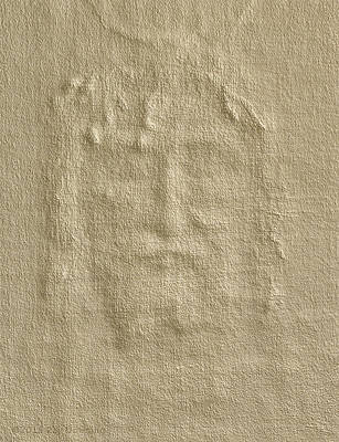 Shroud Of Turin 3d Information Art Print