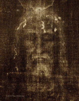 Jesus Face Digital Art - Shroud Of Turin by Ray Downing