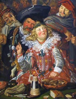 Shrovetide Revellers The Merry Company Art Print