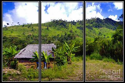 Bamboo Wall Photograph - Shuar Hut In The Amazon by Al Bourassa