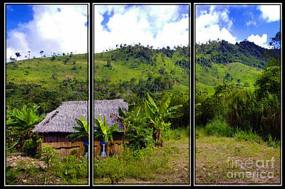 Print featuring the photograph Shuar Hut In The Amazon by Al Bourassa