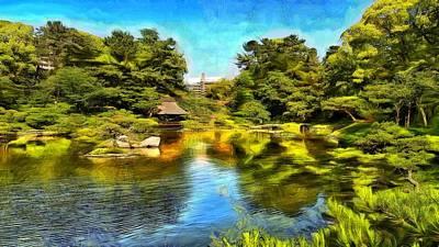 Shukkeien Garden Hiroshima Print by Jean-Marc Lacombe