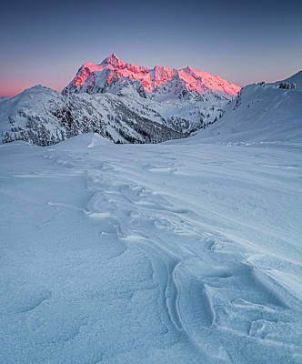 Snow. Mountain Photograph - Shuksan's Shine by Ryan McGinnis