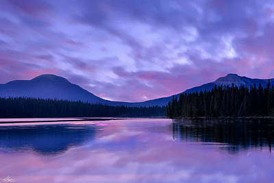 Photograph - Shunda Lake At Dawn by Philip Rispin