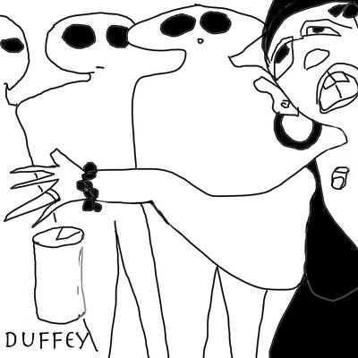 Digital Art - Shurlene Dropped Her 40 And Bit Off The End Of Her Thumb by Doug Duffey