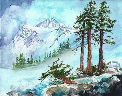 Painting - Shuskan's Winter Coat by Sherry Shipley