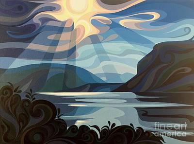 Painting - Shuswap Lake by Christine Karron