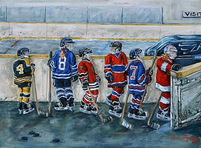 Shinny Hockey Painting - Shut The Gate by Joanne Gervais
