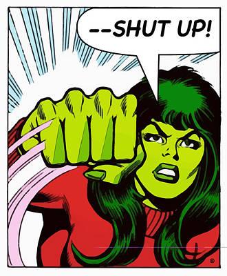 Digital Art - Shut Up by Gary Grayson