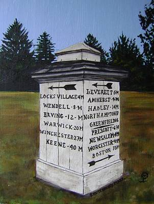 Painting - Shutesbury Town Marker by Therese Legere