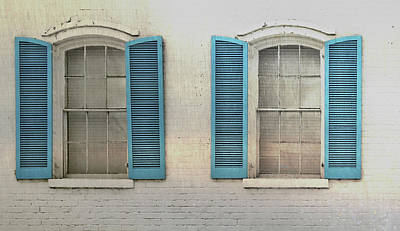 Shutter Blue Art Print by JAMART Photography