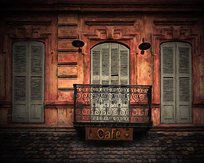 Tbilisi Photograph - Shuttered Cafe by Paul Bucknall