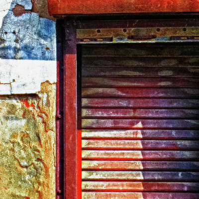 Photograph - Shuttered Window Abstract Square by Tony Grider