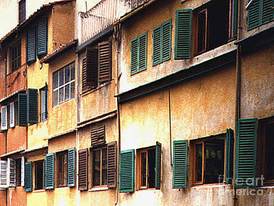 Photograph - Shuttered Windows In Florence, Italy by Merton Allen