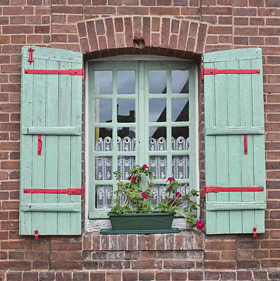 Red Photograph - Shutters And Lace by Hugh Smith