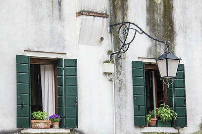Photograph - Shutters And Light Venice Italy  by John McGraw