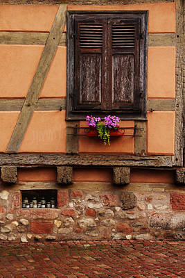 Kaysersberg Photograph - Shutters And Window Box In Kaysersberg by Greg Matchick