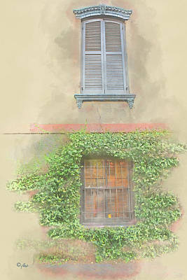 Digital Art - Shutters by Paulette B Wright