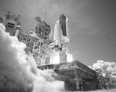 Photograph - Shuttle Atlantis Launching - May 14, 2010 by War Is Hell Store