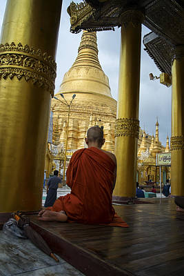 Day Photograph - Shwedagon Silence by David Longstreath