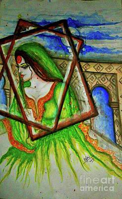 Syeda Ishrat Painting - 'shy Beauty' by Syeda Ishrat