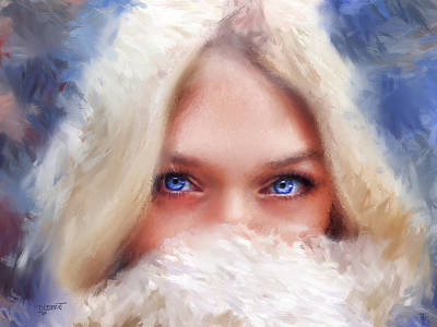 Digital Art - Shy by Dave Luebbert