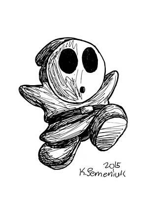 Drawing - Shy Guy by Kayleigh Semeniuk