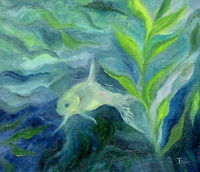 Painting - Shy Little Fish by FT McKinstry
